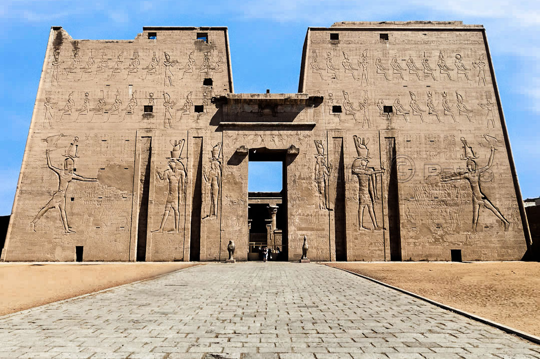 Temple of Edfu. Temple of the Creator: 'He who is Great of Arm', the God of the Temple