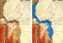 fig.4 Fysiografische weergave van de westelijke kust van Afrika.
